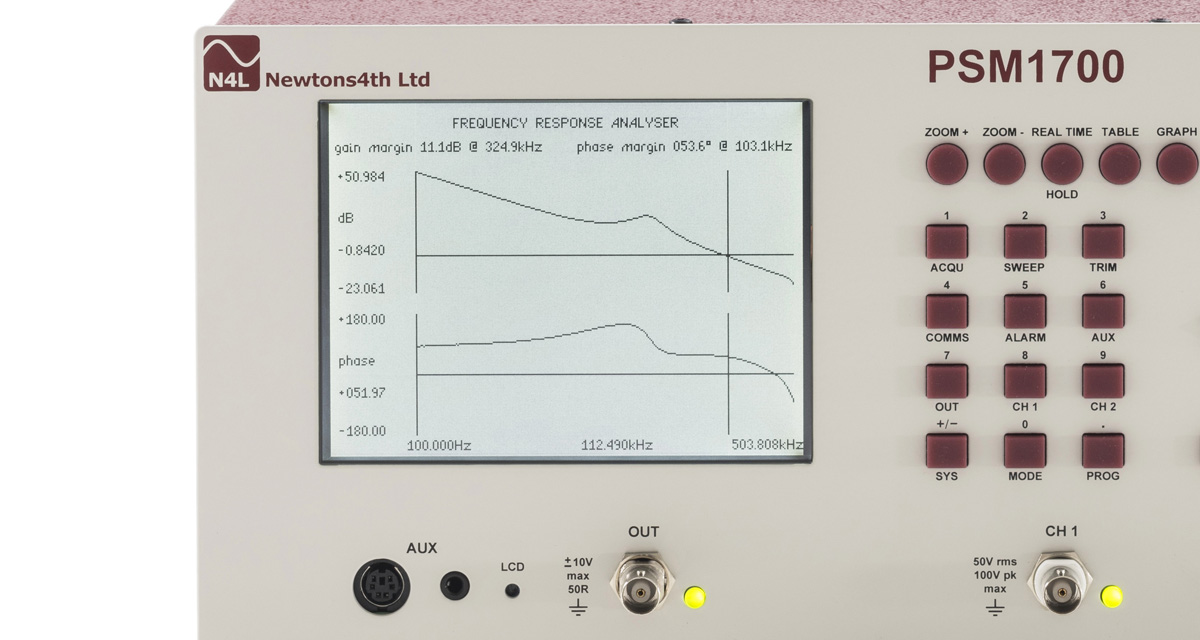 Frequency Response Analyzer : Psm frequency response analyzer newtons th