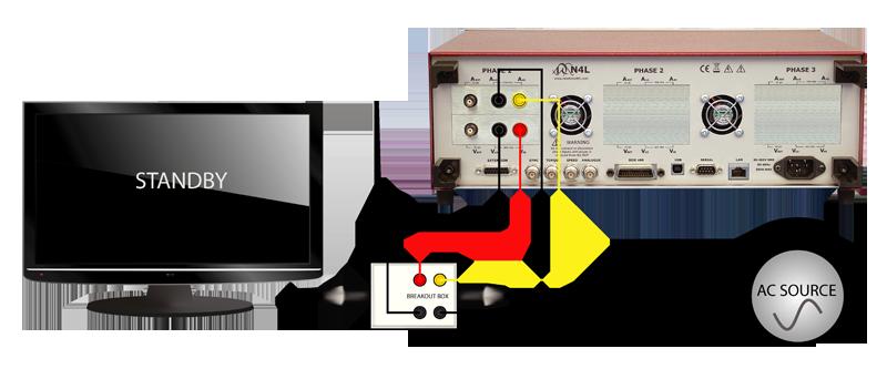 n4l power analyzer en50564 standby power test setup