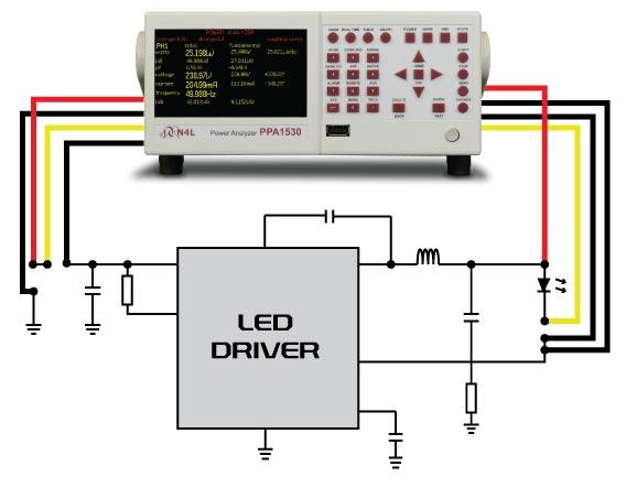 ppa1500 power analyzer led driver measurement