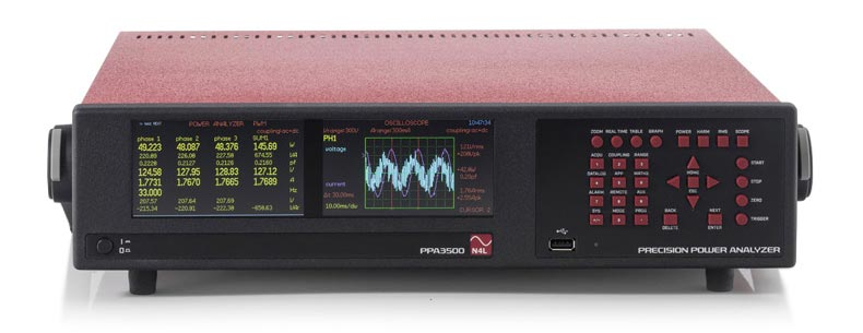 PPA3500 Dual Display 6 Phase Power analyzer front view