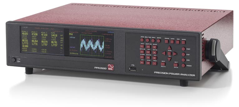 n4l ppa3500 6 phase power analyzer dual display configured in 3 phase 3 watt meter mode