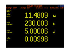 6 digit resolution low power factor power transformer analyzer