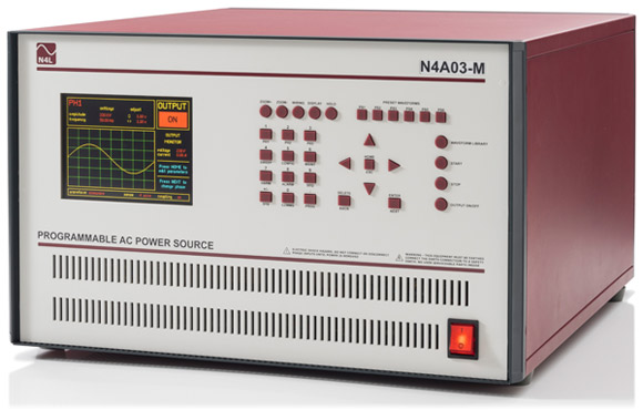 N4A03 3kVA Programmable AC+DC Power Source quarter view